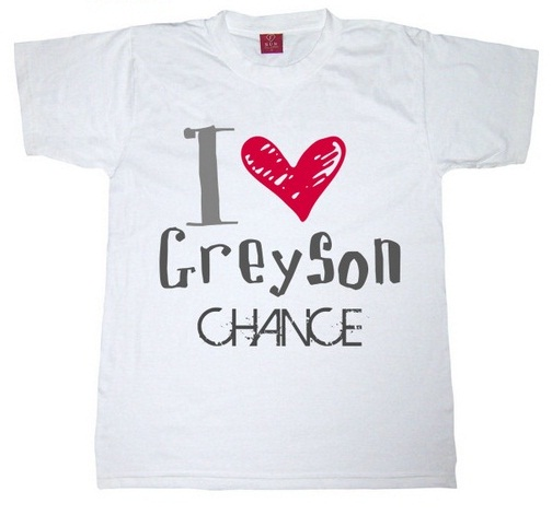 What font is I <3 Greyson Chance T-shirt?