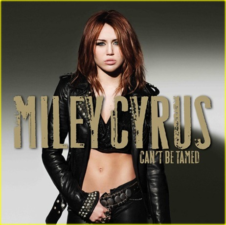 What Are The Fonts On The Miley Cyrus Can't Be Tamed Album Cover?