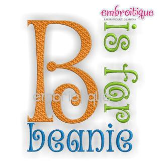 What font is 'B is for Beanie'?