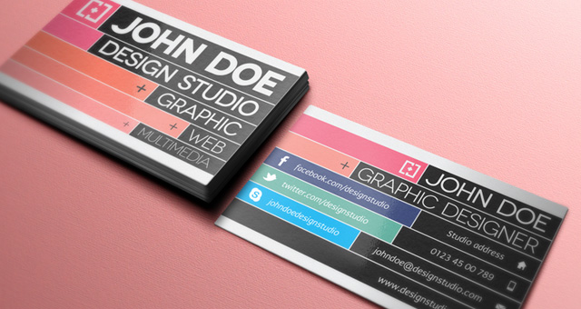 business card fonts