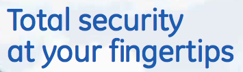 """Total security at your fingertips"" font"