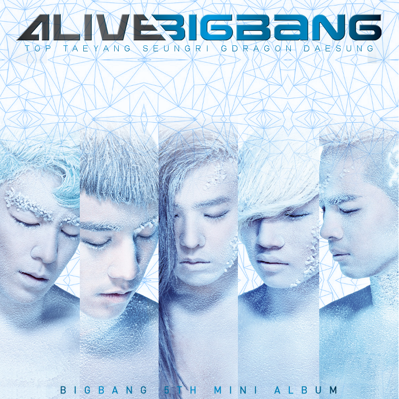 what is the 'ALIVE' font and 'BIGBANG' font ?