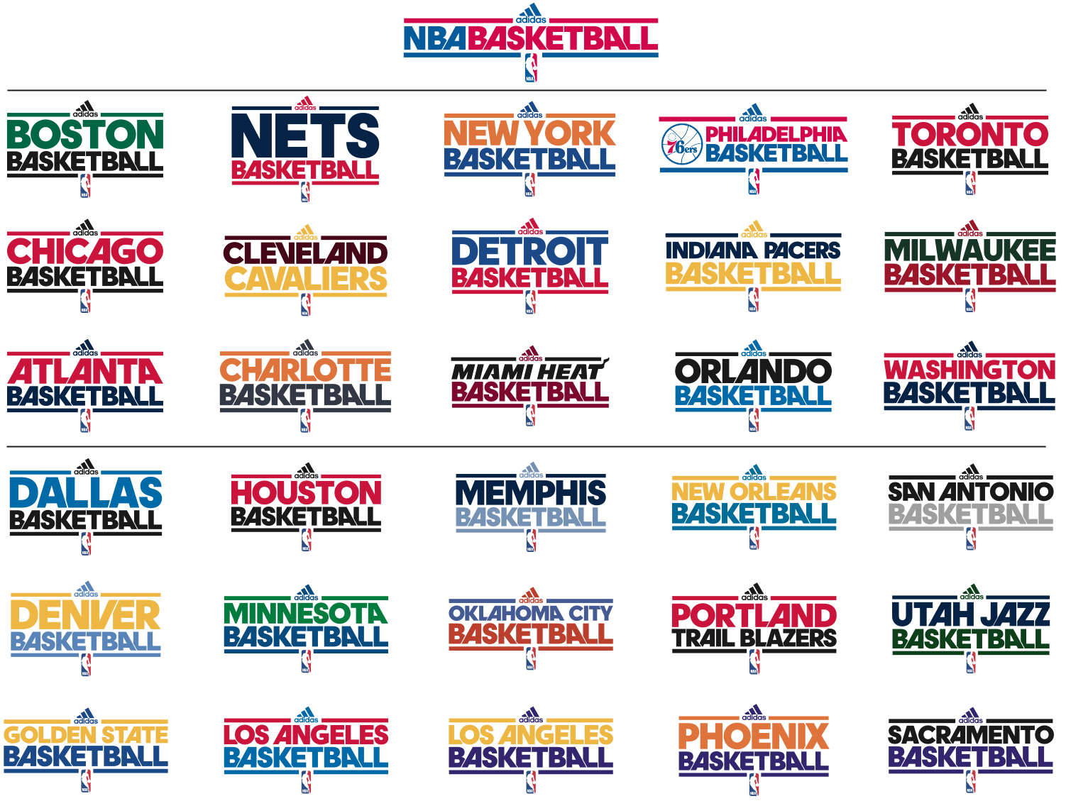 What font was used for the NBA practice jerseys by adidas ...