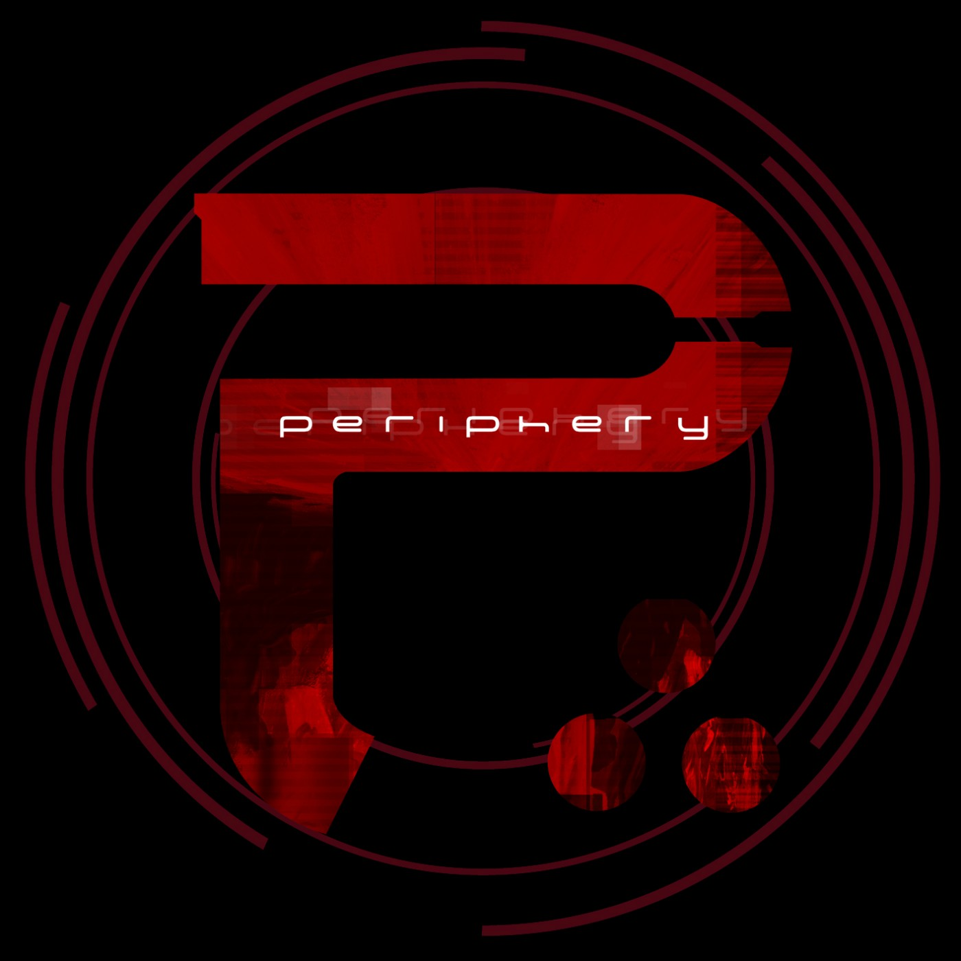 "The large ""P"" and the band name: ""Periphery"""