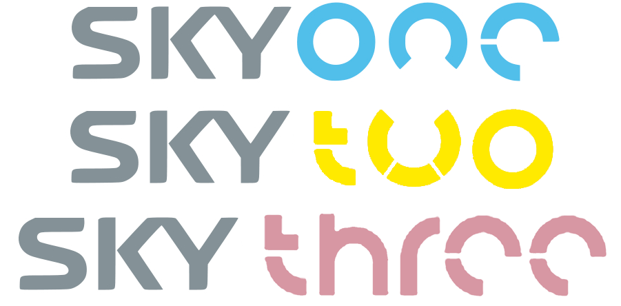 Sky One/Two/Three font?