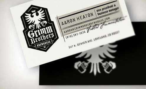 AARON HEATON Business Card Font
