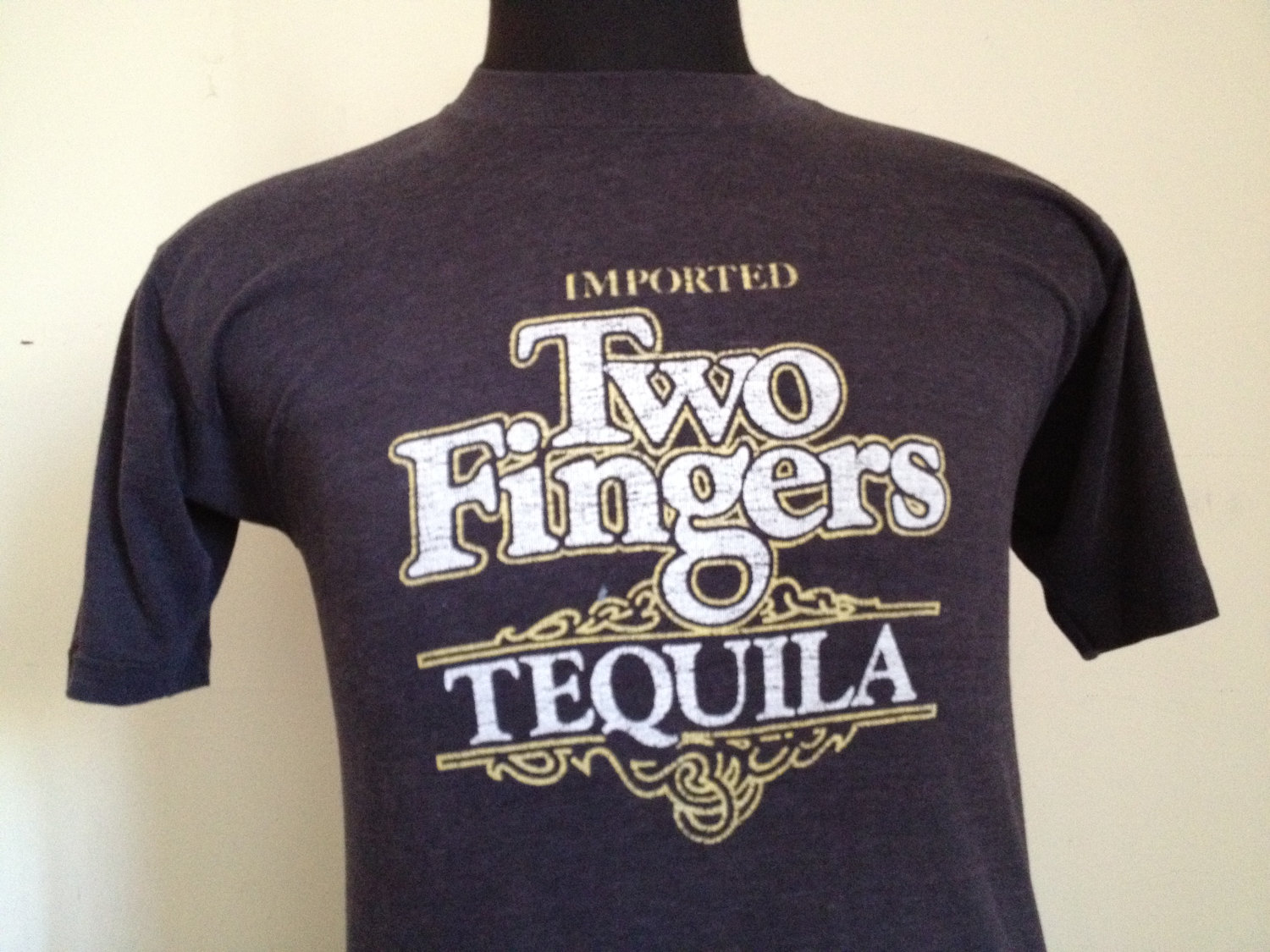Tequila two fingers font or vector logo