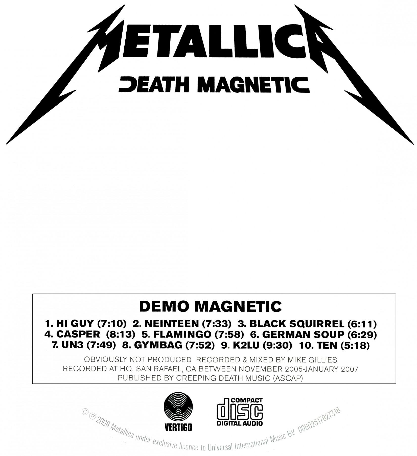 Metallica - Demo Magnetic - forum   dafont.com