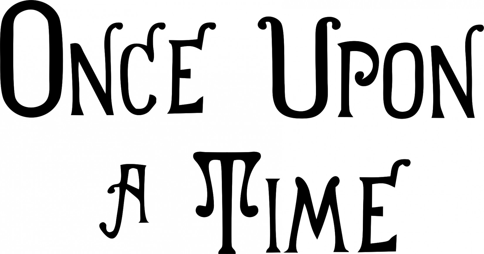 ABC Serie: ONCE UPON A TIME (HENRY'S BOOK FONT)