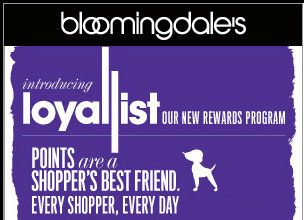 BLOOMINGDALES LOYALIST fonts?