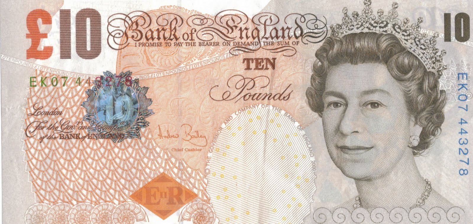 Bank note UK font