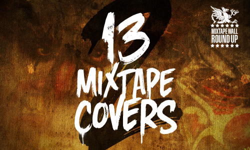 13 mixtape covers font