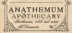 APOTHECARY FONT?
