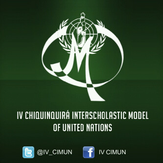 What is the font? IV CHIQUINQUIRÁ INTERSCHOLASTIC MODEL OF UNITED NATIONS