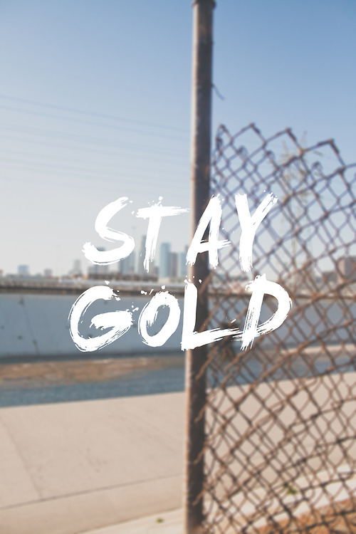 STAY GOLD Font?