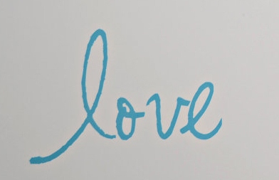 "what font is ""love""?"