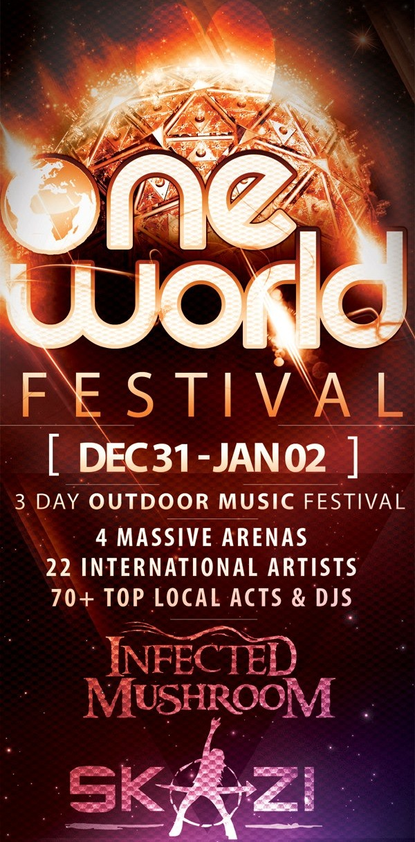 """One World"" font"