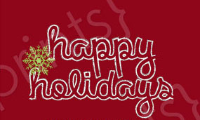 Happy Holidays Font?