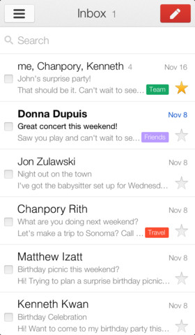 New Gmail App Font