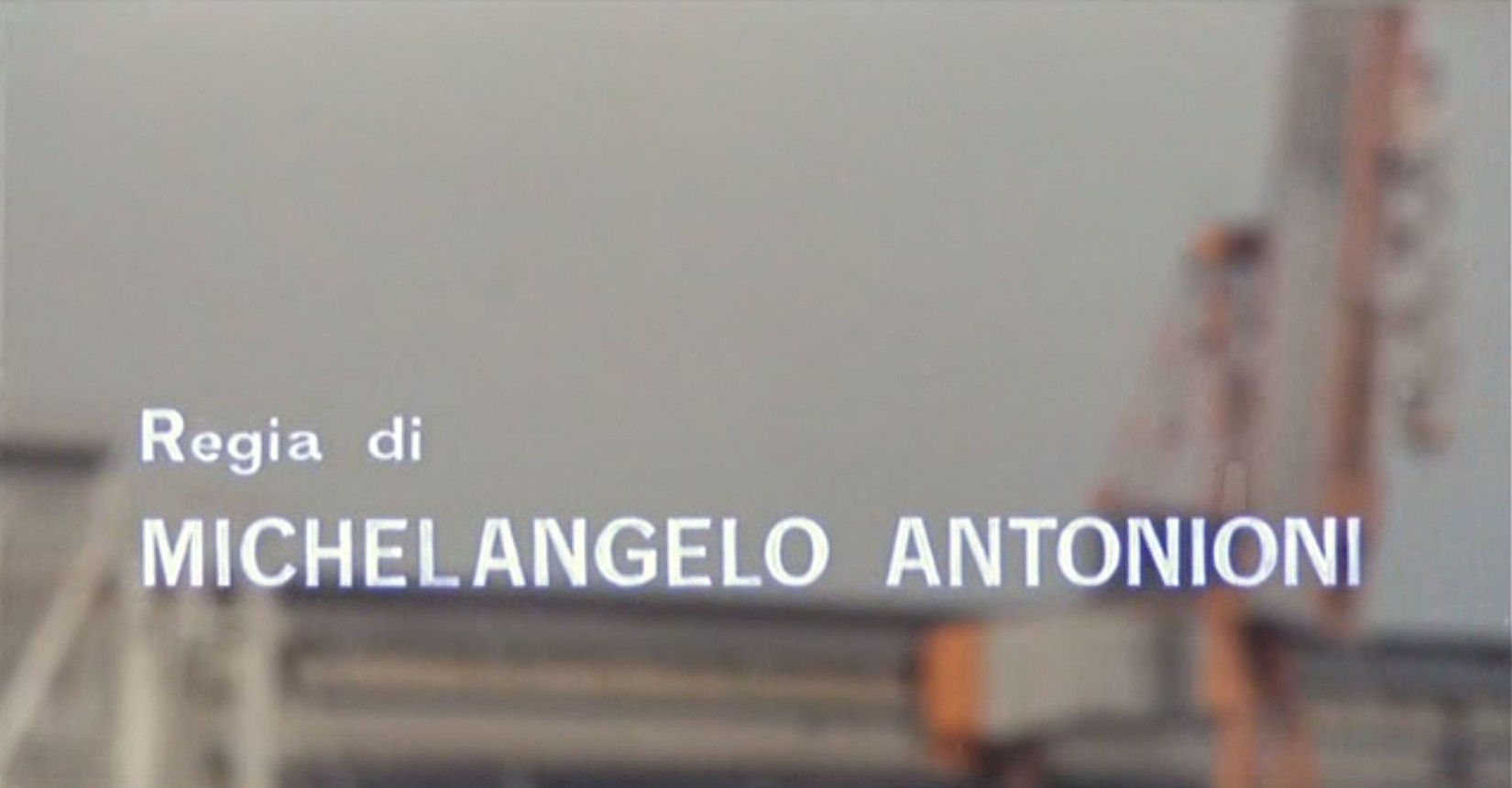 what font is used in the titles for Antonioni - Il Deserto Rosso