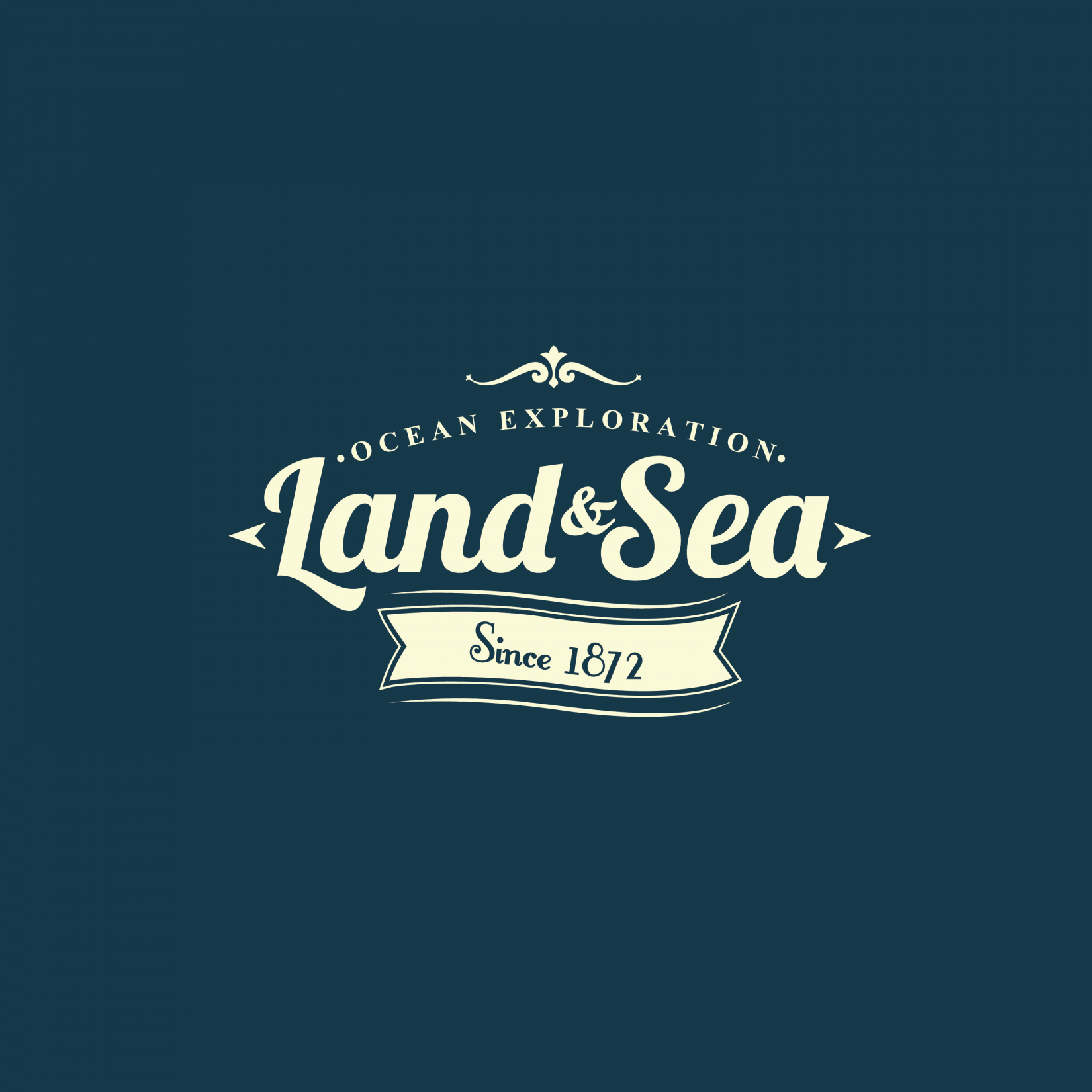 "Whats the font on ""Land & Sea"" Part?"