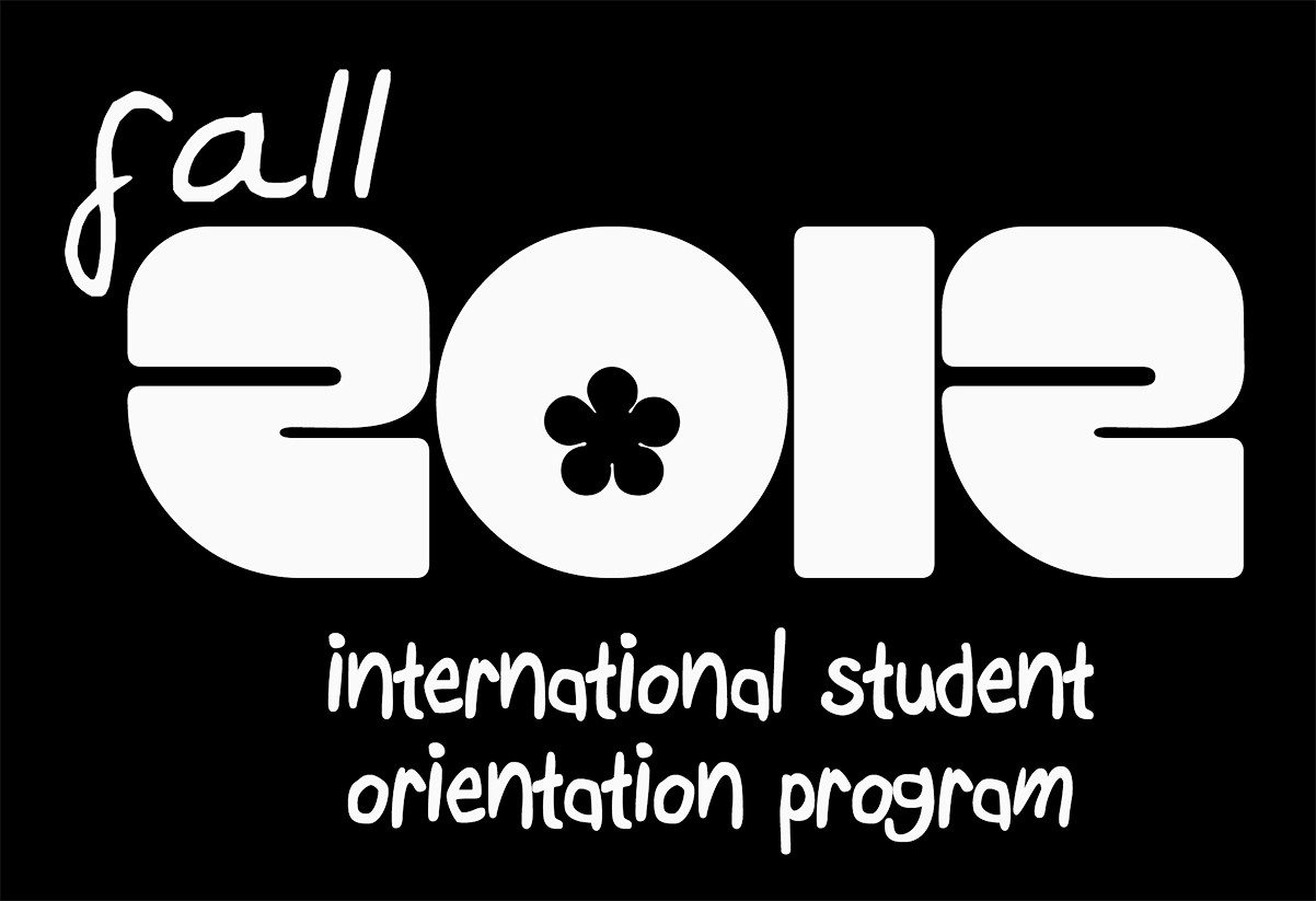 fall and international student orientation program font?