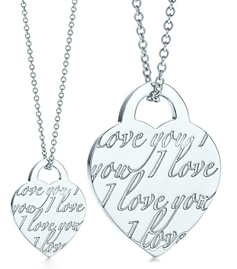 Tiffany Notes I Love You pendent