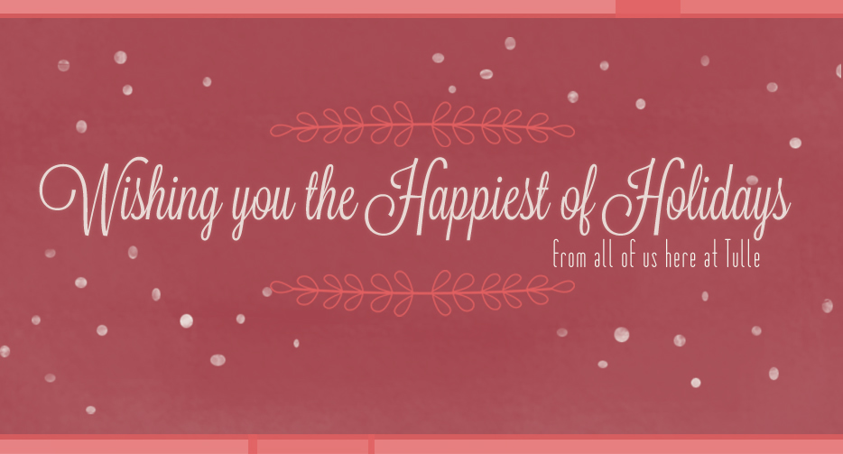 """Wishing you the happiest of holidays"" font?"