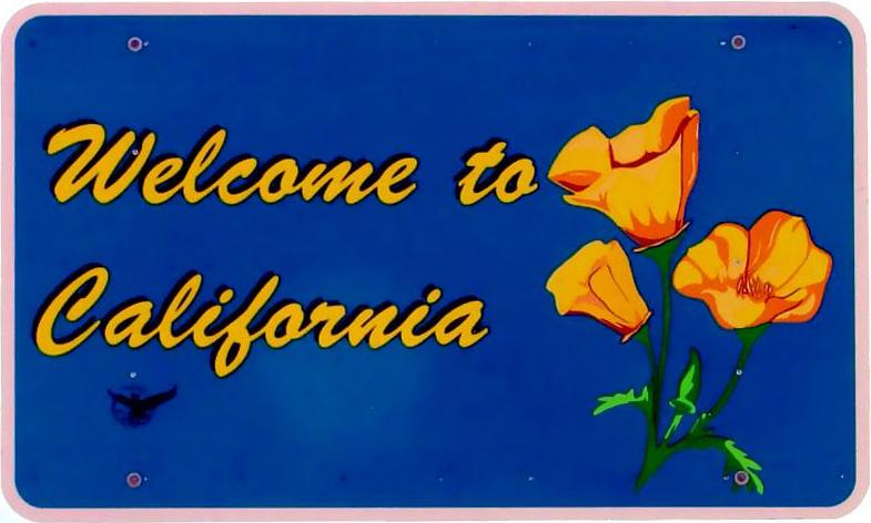 California sign font?
