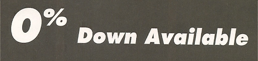 0% Down Available Font