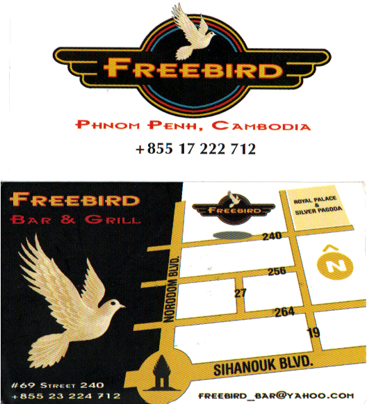 Freebird, business card