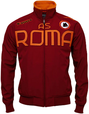 AS Roma on the jacket font