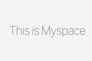 The New Myspace font