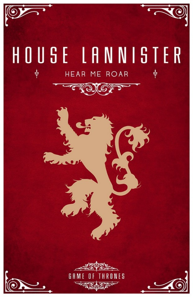 Game of Thrones House Poster Font