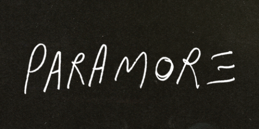 What is font of ''Paramore''?