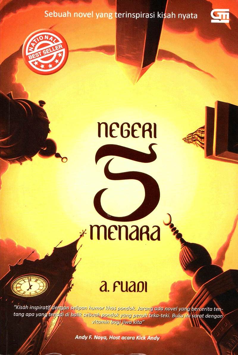 What this font from book cover in title Negeri 5 Menara