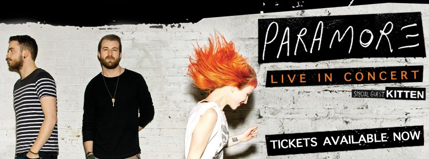 what font used in this Paramore concert poster 2013