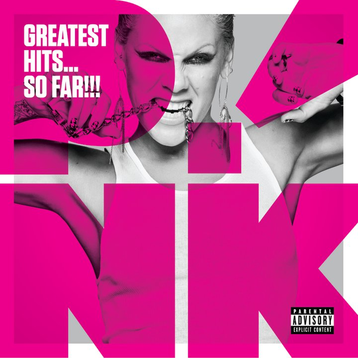 "P!NK font on the ""Greatest Hits... So Far!!!"" album?"