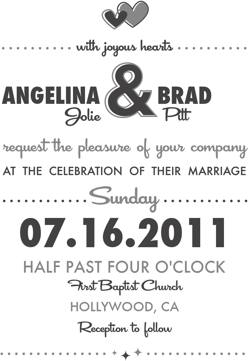 wedding template fonts