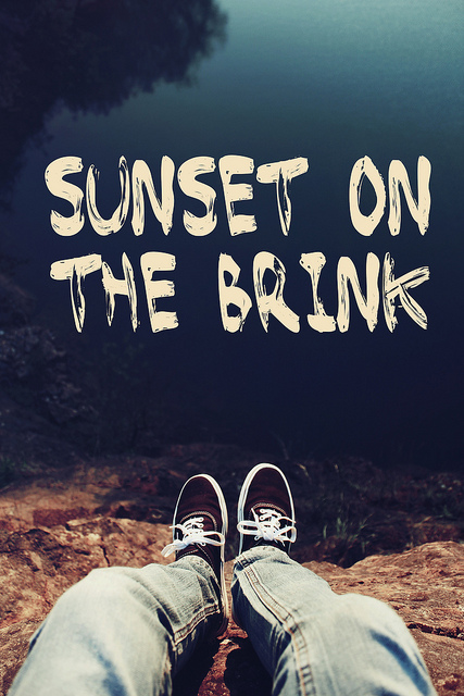 "Name of the font ""sunset on the brink"""