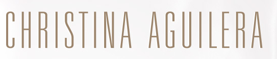 Please Christina Aguilera font