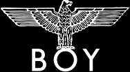 "what font is used on the ""BOY LONDON"" logo"