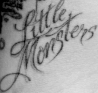 Lady Gaga 'Little Monsters' tattoo