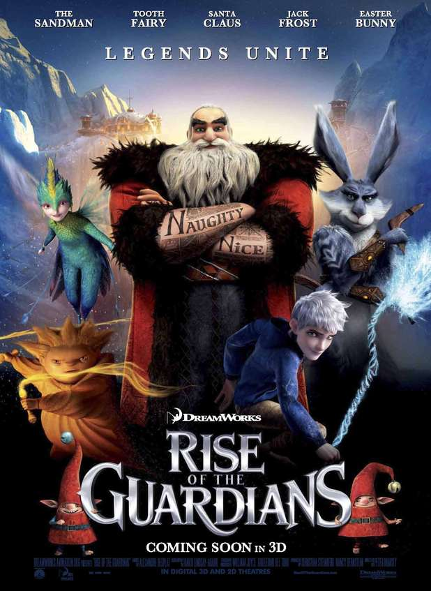 Rise of the Guardians movie title font
