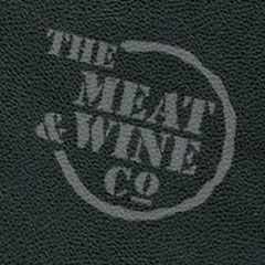 "What font is ""The Meat & Wine Co"" written in?"
