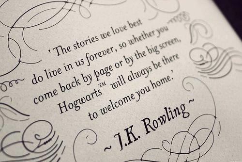 J.K. Rowling Quote Font?