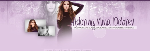 "What font is ""adoring nina dobrev"""