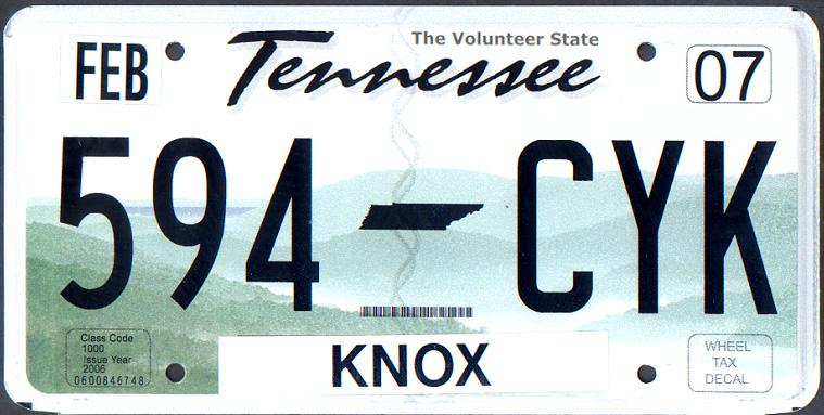 Tennessee font