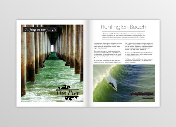 "What is the font of ""Huntington Beach""?"
