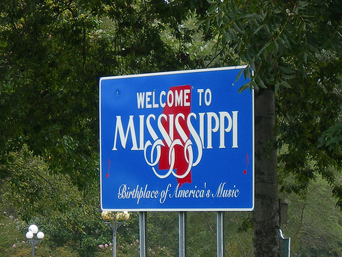 mississippi state sign font